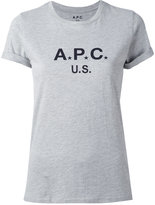 A.P.C. logo print T-shirt - women - Cotton/Polyester - S