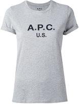A.P.C. logo print T-shirt - women - Cotton/Polyester - XL