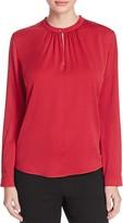 Max Mara Sabadel Silk Keyhole Shirt