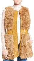 Olivia Palermo + Chelsea28 Women's Genuine Shearling Vest