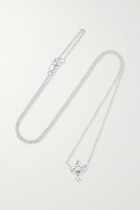 Maria Tash Lotus 18-karat White Gold Diamond Necklace - one size