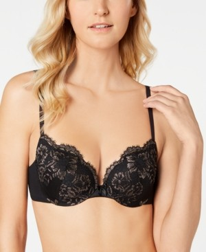 Maidenform Love the Lift Cross Dye All Over Lace Push-Up Plunge Bra DM9900