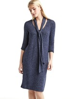 Gap Softspun knit tie-neck dress