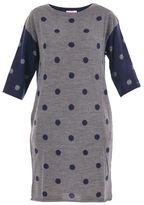 Sun 68 Polka Dot Merino Wool Knited Dress
