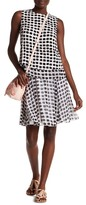 Kate Spade Island Stamp Silk Chiffon Skirt