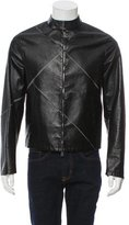 Emporio Armani Leather Moto Jacket w/ Tags