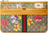 Gucci Floral Pouch in Beige Ebony & Multicolor | FWRD