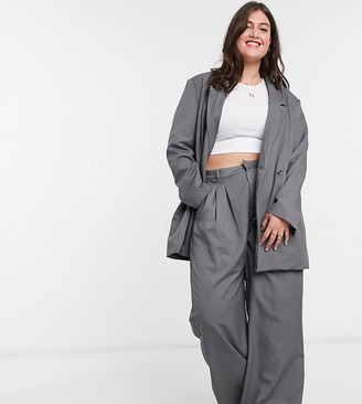 Daisy Street Plus relaxed wide leg trousers with pleat front