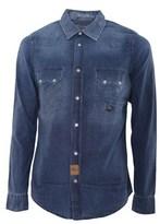Roy Rogers Roy Roger's Men's Blue Cotton Shirt.