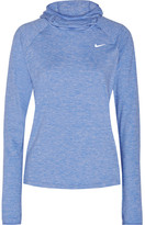 Nike Element Dri-fit Stretch-jersey Hooded Top - Royal blue