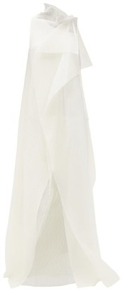 Roland Mouret Hartfell Draped Silk-blend Organza Gown - White