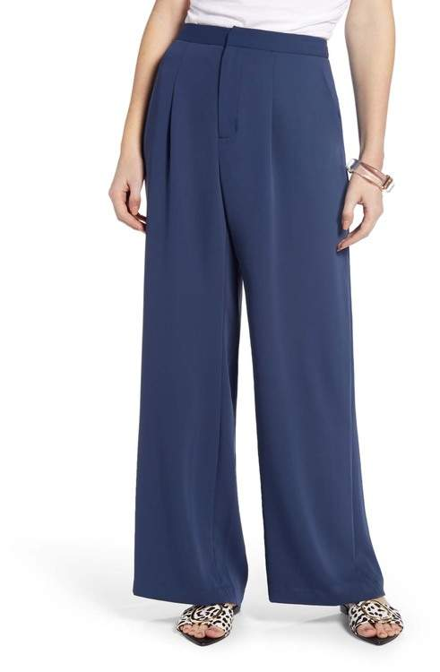 7a59cf93213f Navy High Waisted Pants - ShopStyle