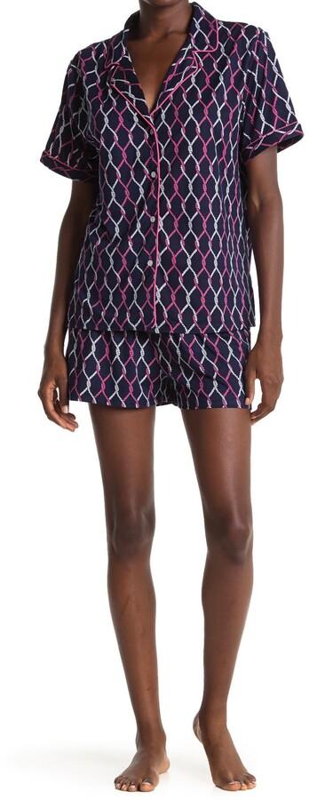 Nautica Printed T-Shirt & Shorts 2-Piece Pajama Set