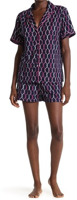 Nautica Printed T-Shirt & Shorts 2-Piece Pajama Set