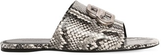 Balenciaga 10mm Oval Bb Python Print Leather Flats