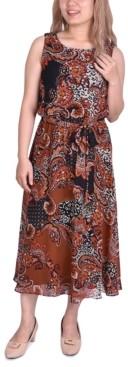 NY Collection Petite Sleeveless Chiffon Midi Dress