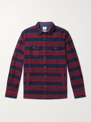 Faherty Yukon Striped Brushed Organic Cotton-Flannel Shirt
