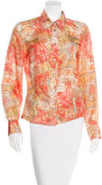 Jean Paul Gaultier Silk Button-Up Top