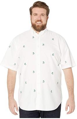 Polo Ralph Lauren Big & Tall Short Sleeve Classic Fit Oxford Shirt (White Aoe) Men's Short Sleeve Button Up