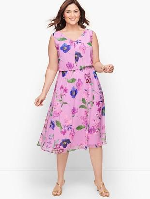 Talbots Plus Size Exclusive Botanical Fit & Flare Dress