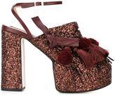 No.21 tassel detail platform sandals - women - Leather/PVC/Viscose - 41