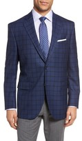 Peter Millar Men's Classic Fit Plaid Wool Sport Coat