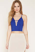 Forever 21 FOREVER 21+ Ladder-Cutout Crop Top