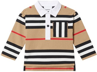 Burberry Stripes Cotton Interlock Polo Shirt