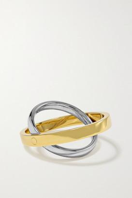 KatKim Echo 18-karat White And Yellow Gold Ring - 5