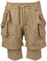 Balmain layered cargo shorts