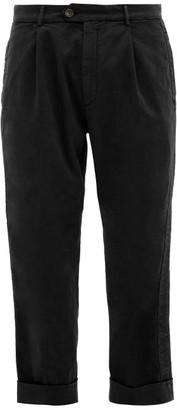 J.w.brine J.W. Brine J.w. Brine - Chelsea Turn Up Cuff Cotton Blend Trousers - Mens - Black