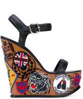 DSQUARED2 Hackney wedge sandals - women - Goat Skin/Lamb Skin/Leather - 40