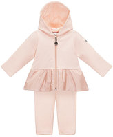 Moncler Hooded Two-Piece Track Suit, Light Pink, Size 6M-3