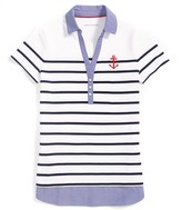 Tommy Hilfiger Final Sale- Striped Polo With Chambray Collar