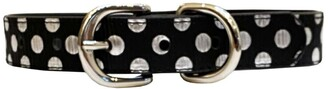 Dogs Of Glamour Jenna Polka Dot Silver Collar - Medium