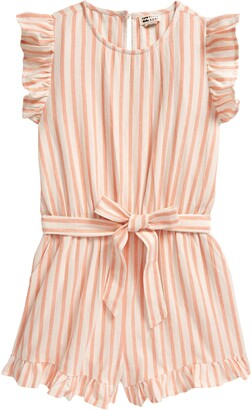 Billabong Bilabong Kids' Shortcakes Stripe Ruffle Romper
