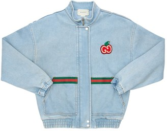 Gucci Stretch Cotton Denim Jacket W/ Patch