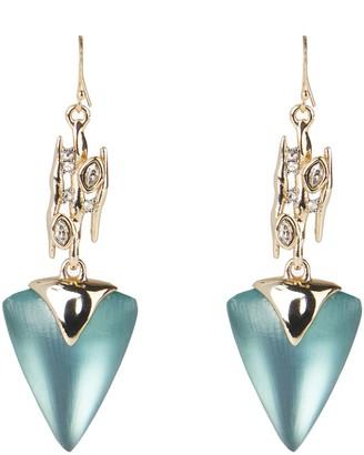 Alexis Bittar Asteria Nova Navette Spiked Triangle Drop Earrings