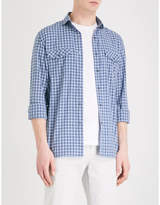 Corneliani Checked casual-fit cotton shirt