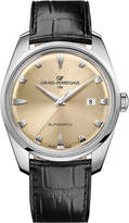 Girard Perregaux GIRARD-PERREGAUX 41957-11-131-BB6A Heritage stainless steel and leather watch
