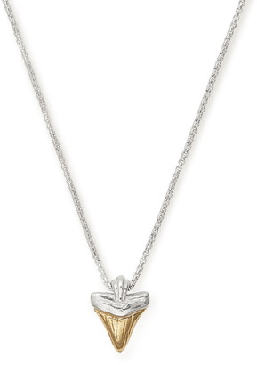Alex and Ani Sterling Silver Shark Tooth Pendant Necklace