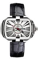 Prima Donna Gio Monaco Women's 300-A PrimaDonna Rectangular White Dial Black Alligator Leather Watch
