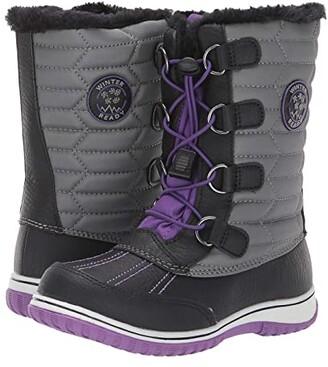 Tundra Boots Kids Alps (Little Kid/Big Kid) (Black/Purple) Girls Shoes