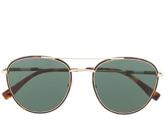 Lacoste x Novak Djokovic aviator sunglasses