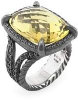 David Yurman Women's Vintage Citrine & 0.65 Total Ct. Black Diamond Chatelaine Ring