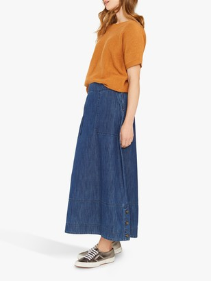 White Stuff Irina Denim Skirt, Blue