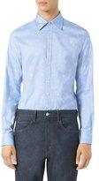 Gucci Bee Jacquard Oxford Duke Shirt, Light Blue