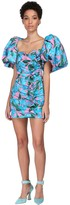 Giuseppe Di Morabito Floral Print Cotton Blend Mini Dress
