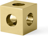 Menu Solid Brass Cube Candle Holder