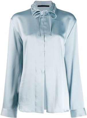 Haider Ackermann Woven Collar Shirt